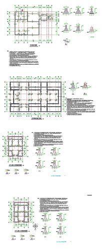 天然基础布置CAD图