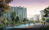 住宅区水系景观 PSD