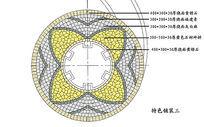 花瓣式圆形铺装图