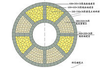 黄锈石为主的圆形铺装图案