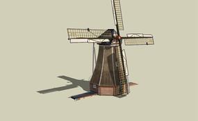 木质四角风车