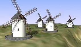 山体发电风车