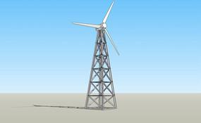 铁艺发电风车