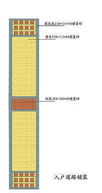 小区入户道路铺装 PSD