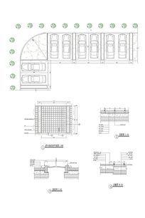 生态停车场平剖面做法 CAD
