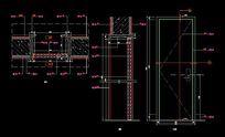 现代风格室内门内部造型图纸