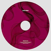 抽象线条光盘设计