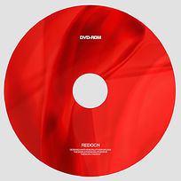 红色绸缎光盘设计