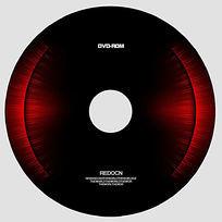 红色炫光光盘设计