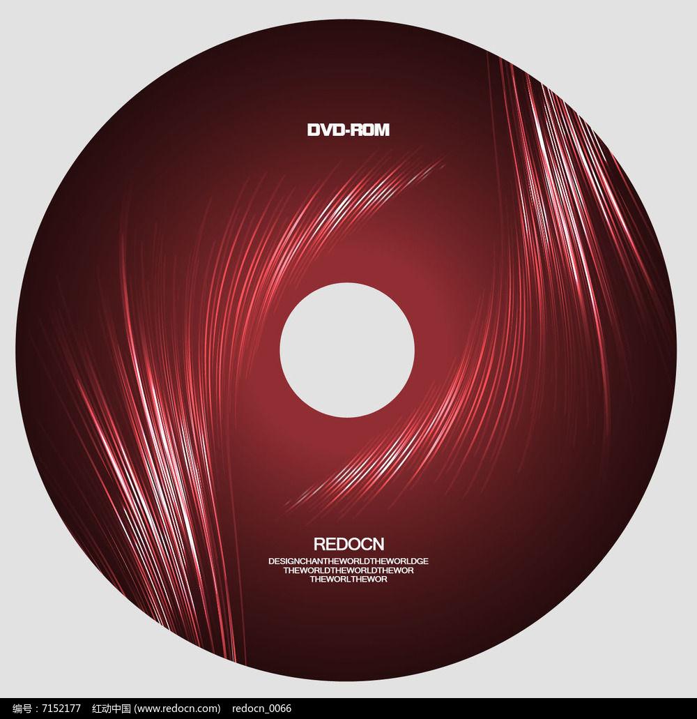 红色渐变线条光盘设计图片