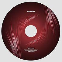 红色渐变线条光盘设计