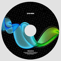 弧线艺术光盘设计