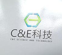 简约科技感logo设计