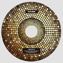 金色点光光盘设计