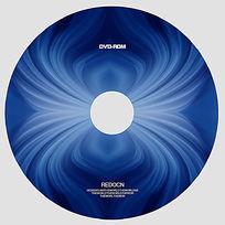 蓝色线条光盘设计