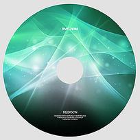绿色梦幻创意光盘设计
