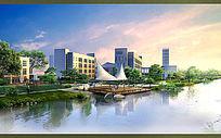 滨河公园效果图