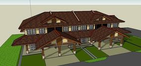 东南亚建筑模型