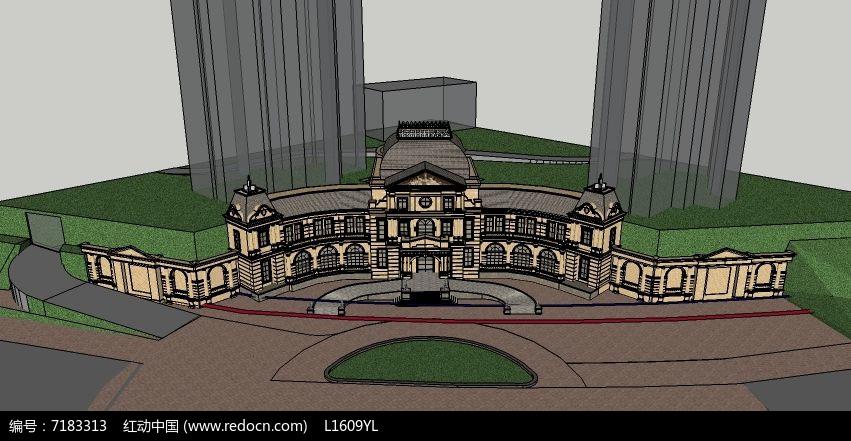 拱形欧式会所图片