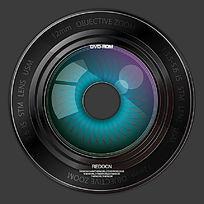 黑色低调镜头光盘