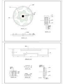 景观花坛浮雕花坛施工图 CAD