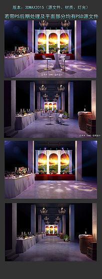 酒庄工业风舞美设计活动会场3DMAX模型下载舞台模型