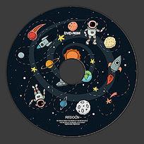卡通太空光盘