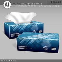 科技行业礼品纸巾盒设计模板
