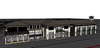 日式建筑模型