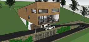 山地别墅模型