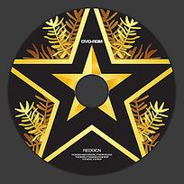 五角星金色光盘