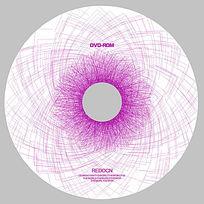 紫色艺术线条光盘