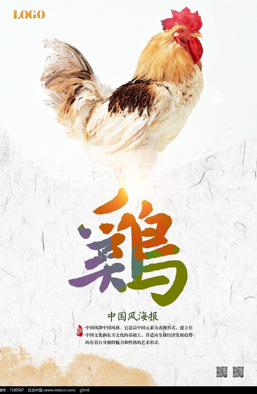 鸡海报设计