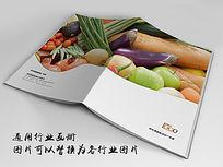 有机蔬菜画册indd源文件下载