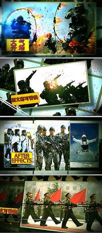 ae部队训练演习宣传片视频模板