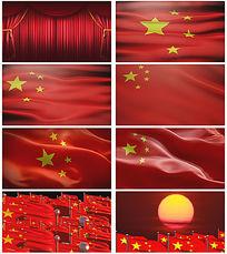 歌唱祖国红旗飘飘视频素材