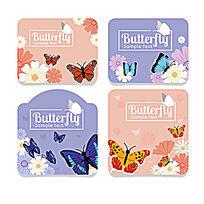 蝴蝶卡片设计矢量素材