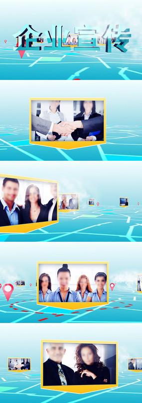 简洁大气三维空间商务企业宣传ae模板