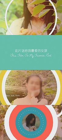 清新动感生日祝福视频会声会影模板