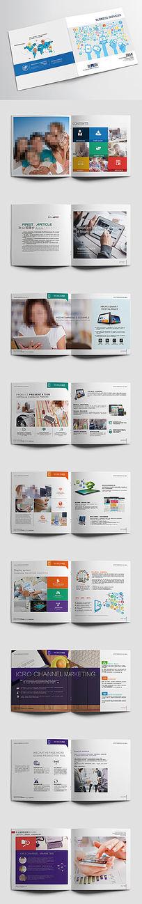 移动互联网微信APP营销网络数码产品科技画册版式设计