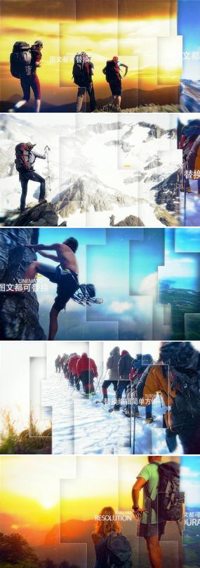 震撼大气三维空间感图片展示企业宣传ae模板