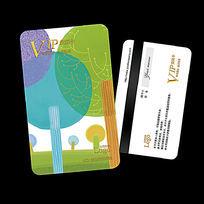 儿童教育培训VIP贵宾会员卡设计