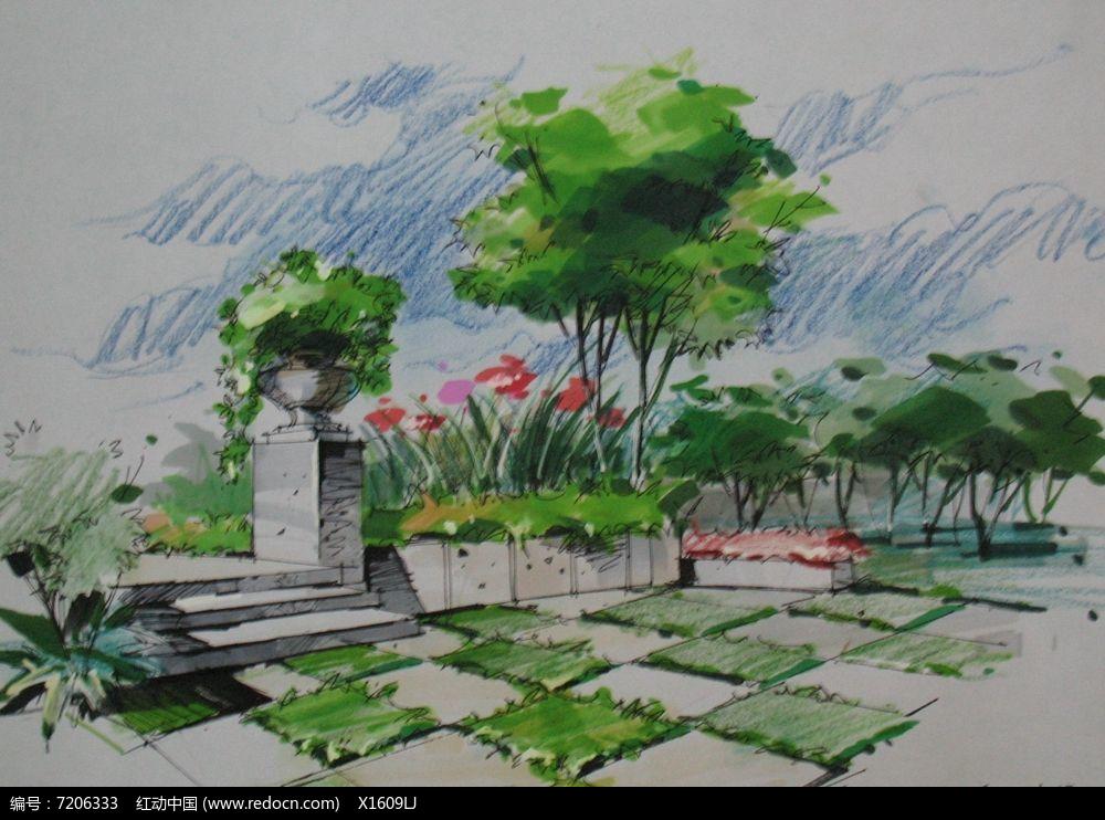 花坛广场景观