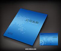 蓝色简洁科技封面设计
