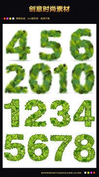 绿色数字字体下载 AI