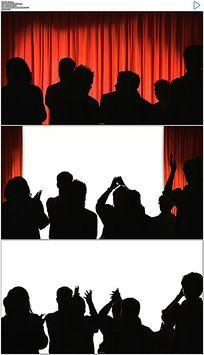 幕布拉开观众鼓掌视频素材