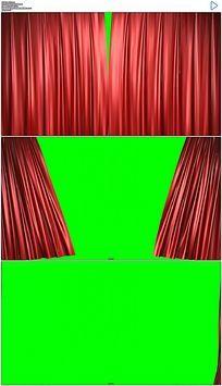 幕布拉开绿屏抠像视频素材