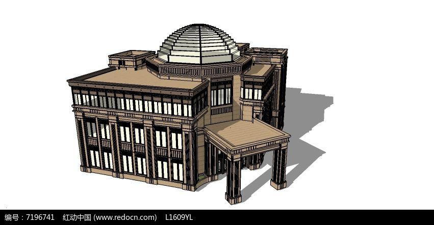 欧式复古建筑模型图片