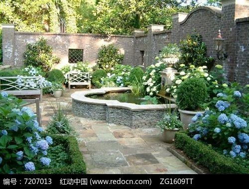 欧式造型小水池