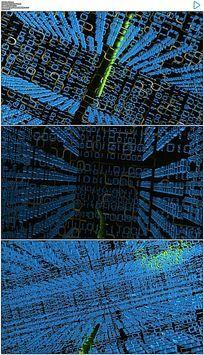 三维蓝色科技数据穿梭视频素材
